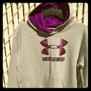 UA Girls Gray Hoodie Sweat Shirt